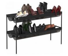 Umbra - Etagère à chaussures en métal 16 paires - Étagère
