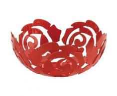 ALESSI ESI15/29 R LA ROSA CORBEILLE À FRUIT INOX LAQUÉ ROUGE - linge de table et décoration