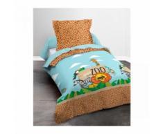 Parure de lit enfant jungle dodo 140x200 - Linge de lit