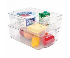 Boîte de Rangement pour Réfrigérateur Plastique Transparent 31,5 x 21,5 x 9 cm 6 L - Meubles de cuisine