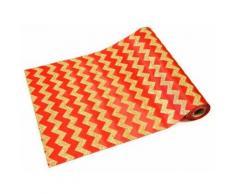 Chemin de table chevron pailleté rouge et or - 28 cm x 5 m - Objet à poser