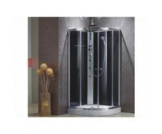 Cabine de douche hydromassante d'angle TALULA - 3 jets de massage - pluie tropicale et douchette - Installations salles de bain