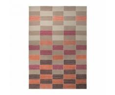 Tapis coloré Fida par Esprit Home motif Géométrique Orange 70x140 - Tapis et paillasson