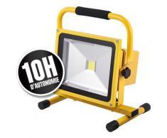 Spot led rechargeable 30w 10h jaune - 551306 jaune - Appliques et spots