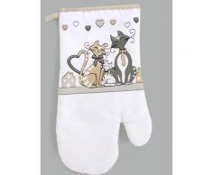 Gant de cuisine - Motifs chats - Gant anti chaleur - Rideaux et stores