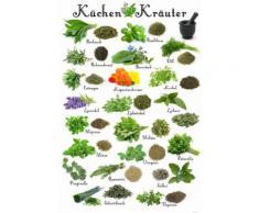 Cuisine Papier Peint Photo/Poster Autocollant - Herbes Aromatiques (180x120 cm) - Décoration murale