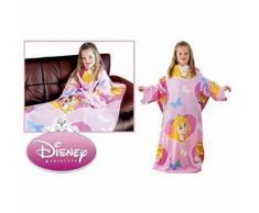 Couverture polaire avec manches Princesse de Disney pour enfant (90cm x 120cm) (Rose) - UTKF146 - Linge de lit