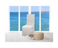 Housse de chaise jacquard COTONADE taupe - Textile séjour