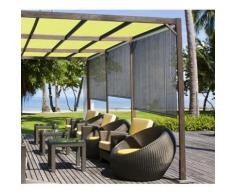 Store d'ombrage 100 x H 180 cm Brun Havane - 165g/m² - Fenêtres et volets