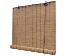 Store enrouleur bambou brun 100 x 160 cm - Fenêtres et volets