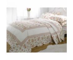 Couvre-lit rembourré à motif floral Lille (Lit simple) (Rose) - UTMS150 - Linge de lit
