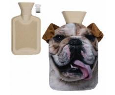 Bouillotte chien bouledogue marron - Accessoires de bain