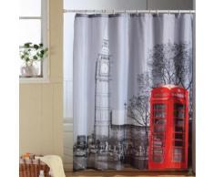 Rideau de douche en polyester 180x200cm avec œ,illets - Accessoires salles de bain et WC