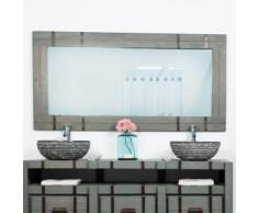 Grand Miroir de salle de bain LOFT 160x80 gris - Miroir