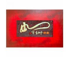 Tableau toile décoration murale bois 120x80 cm motif chinois DEC06006 - Décoration murale