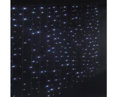 Rideau lumineux extérieur 300 LED blanc froid - Dim : L.150 x l.0,05 x H.200 cm -PEGANE- - Objet à poser
