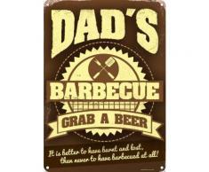 Plaque murale en métal Dad's Barbecue 30.5x40.7cm - Décoration murale