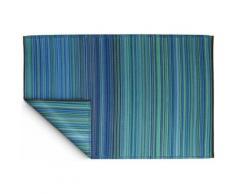 Fabhabitat - Tapis intérieur extérieur Cancun turquoise et vert 150 x 90 cm - Tapis et paillasson