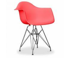 Myfaktory - Chaise enfant darsi - polypropylène mat rouge - Chaise