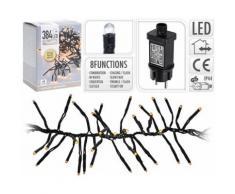 Cluster d'éclairage LED 384 lampes blanc chaud intérieur / extérieur - Objet à poser