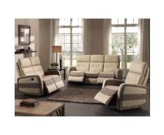 Salon complet Relax électrique - CORMORAN - L 188 x l 93 x H 101 - Tables salle à manger