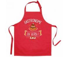 Tablier enfant gastronome en herbe rouge 52 x 63 cm torchons & bouchons - Linge de table