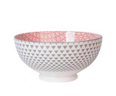 Table Passion - Saladier 20Cm Yunnan Porcelaine Rouge Gris - vaisselle
