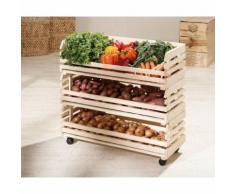 Cageots cagettes rangements cuisine modulable empilable sur roulette bois massif - Boite de rangement
