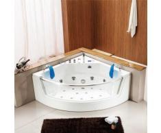 Le Thrace : Baignoire Balnéo d'angle: Ozonateur, Chromothérapie , Radio FM, 15 jets de massage... - Installations salles de bain