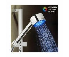 Pommeau de douche à lumière Eco Led - Pomme de douche haute pression pour salle de bain - Accessoires salles de bain et WC
