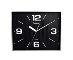 Horloge murale Telesonic de forme carrée en verre et plastique - Décoration murale