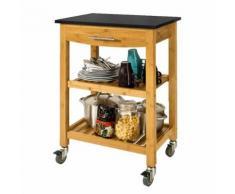 SoBuy® Chariot/Etagère de cuisine roulant,Desserte sur roulettes, FKW28-SCH FR - Dessertes de rangement