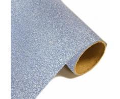 Lot de 10 Rouleaux Chemin de table effet en métal pailleté Glacier - 28 cm x 5m - Objet à poser