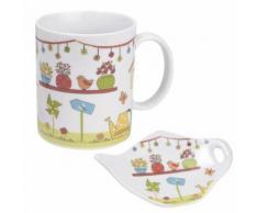 Tasse en céramique avec pose sachet de thé - Jardin - vaisselle