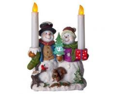 star 990-73 décoration bonhomme de neige avec bougie à led fonctionne à piles - Appliques et spots