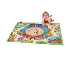 Tapis enfant antidérapant jeu circuit CONNECTE CIRQUE Tapis Enfants par House Of Kids 100 x 150 cm - Tapis et paillasson