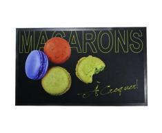 Tapis de Cuisine Deco Gourmand Design Macaron A Croquer Pistache 45x75cm - Objet à poser