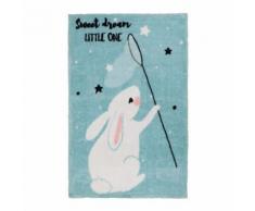 Tapis pour enfant multicolore en polyester doux bunny - Tapis et paillasson