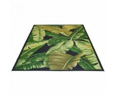Tapis extérieur et intérieur floral vert botanica - Tapis et paillasson