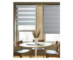 Store Enrouleur Tamisant LOFT rayé Blanc - 150 x 190cm - Fenêtres et volets