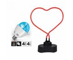Lampe forme cur Neon + Ampoule d'ambiance à LED Culot E27 Effet Astro - Lampes