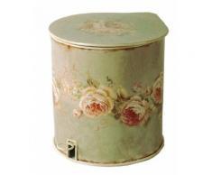 Antic Line Créations - Poubelle Salle de bain Roses - Installations salles de bain
