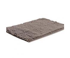 Tapis de bain rectangulaire à poils longs 40 x 60 cm Gris - Accessoires de bain