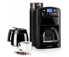 Klarstein Aromatica Set machine à café / cafetière & moulin - Verseuse verre - Thermos noir - Expresso et cafetière