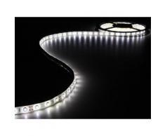 Ensemble de bande à led flexible et alimentation - blanc froid - 300 led - 5 m - 12vcc velleman leds17w - Appliques et spots