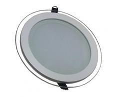 V-tac 4759 vt-1881g rd panneau led encastrable en verre modèle rond lumière blanc froid 6000 kelvin 1620 lumen angle de diffusio - Appliques et spots