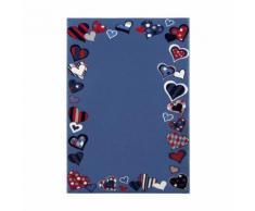 Tapis de chambre enfant bleu just hearts - Tapis et paillasson