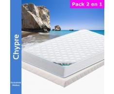 Chypre - Pack Matelas + Tapissier 80x190 - Ensembles matelas et sommier