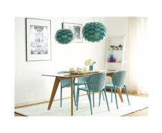 Chaise de cuisine en plastique bleu Holmdel - Chaise