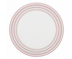 Lot de 6 assiettes plates rondes 26 cm - Tempo rouge par Guy Degrenne - vaisselle